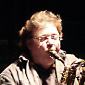 Doug Reid playing saxophone