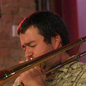 Ryan Shepherd playing trombone