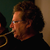 Daniel Barry playing trumpet
