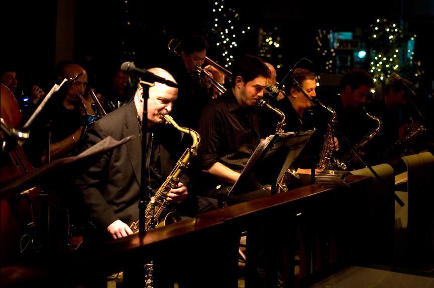 Jim Cutler Jazz Orchestra on the bandstand