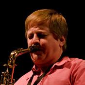 Jim Cutler playing saxophone