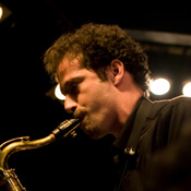 Paul Gillespie playing saxophone