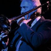 Todd Crooks playing trombone